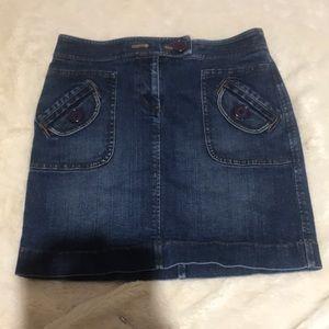 Ann Taylor Loft Denim Mini Skirt Size 4